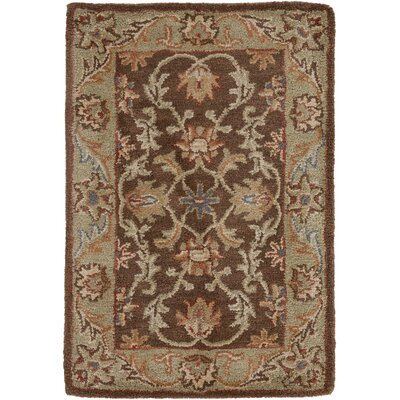 Waterston Floral Brown Area Rug Rug Size: Rectangle 2 x 3