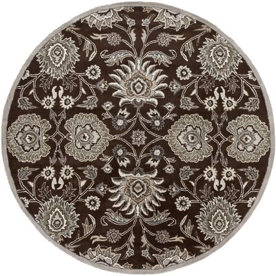 McLoon Oyster Gray Area Rug Rug Size: Round 8