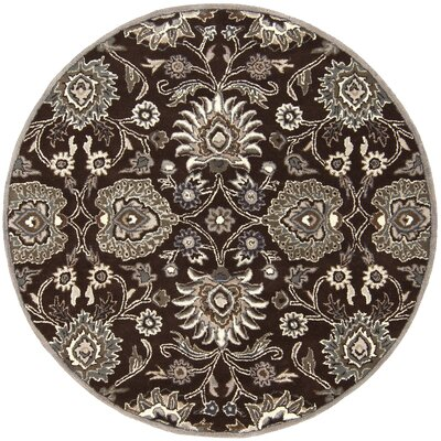 McLoon Oyster Gray Area Rug Rug Size: Round 6