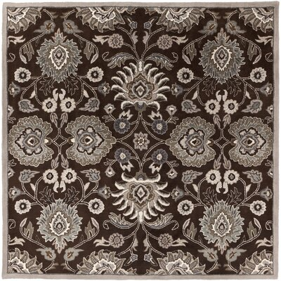 McLoon Oyster Gray Area Rug Rug Size: Square 8