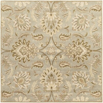 Camden Turtle Green Floral Area Rug Rug Size: Square 8