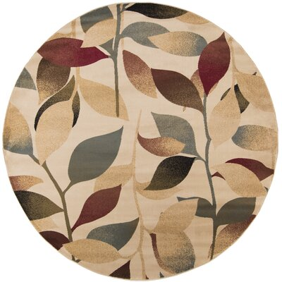 Yden Brown Area Rug Rug Size: Round 8