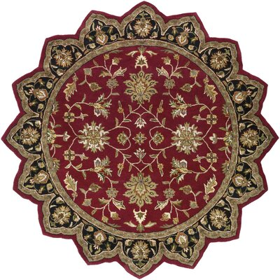 Markeley Hand-Tufted Burgundy Area Rug Rug Size: Novelty 8 x 8