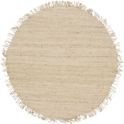 Grogan Hand-Woven Brown Area Rug Rug Size: Round 6