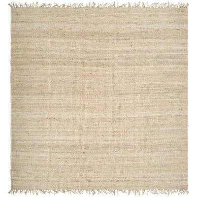 Grogan Hand-Woven Brown Area Rug Rug Size: Square 8