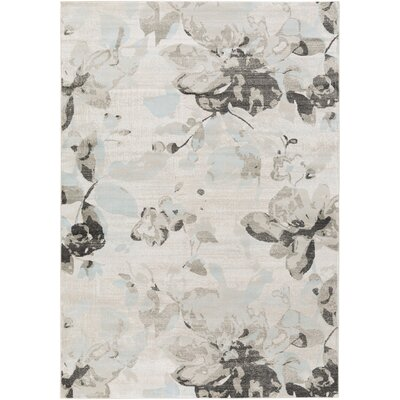 Cary Ivory/Gray Area Rug Rug Size: Rectangle 52 x 76