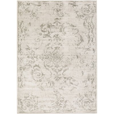 Cary White/Gray Area Rug Rug Size: Rectangle 710 x 106