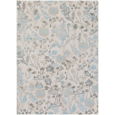 Cary Blue/Ivory Area Rug Rug Size: Rectangle 52 x 76