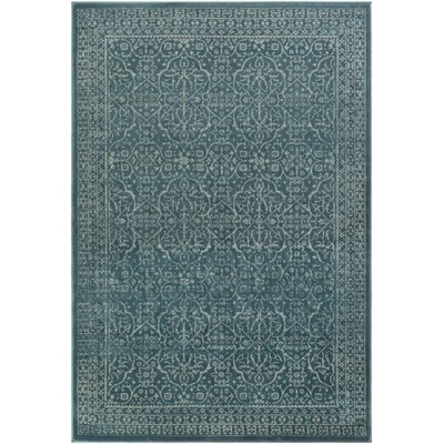 Condron Teal/Gray Area Rug Rug Size: Rectangle 23 x 3