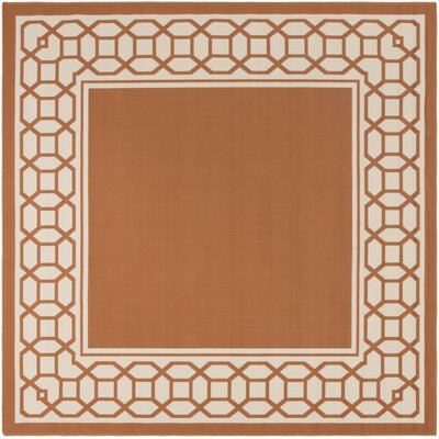Osage Rust Indoor/Outdoor Area Rug Rug Size: Square 710