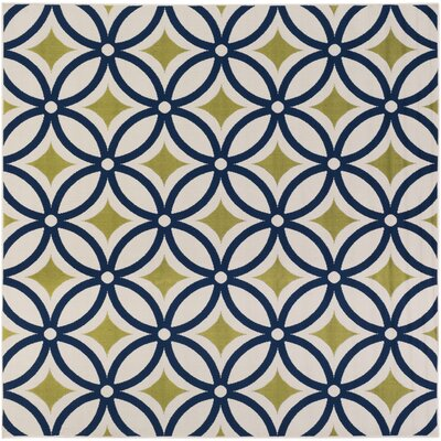 Osage Navy Indoor/Outdoor Area Rug Rug Size: Square 710
