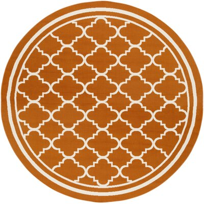 Osage Rust Indoor/Outdoor Area Rug Rug Size: Round 710