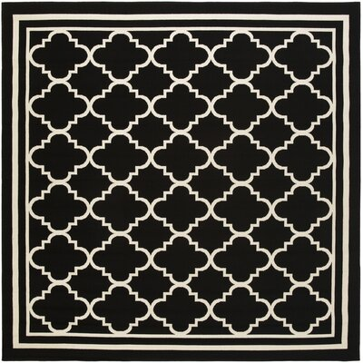 Osage Black Indoor/Outdoor Area Rug Rug Size: Square 710
