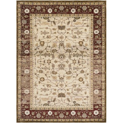 Netta Red/Brown Area Rug Rug Size: 2' x 3'