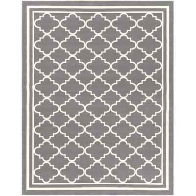 Osage Gray/Ivory Area Rug Rug Size: Rectangle 710 x 103