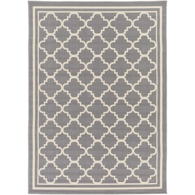 Osage Gray/Ivory Area Rug Rug Size: Rectangle 93 x 126