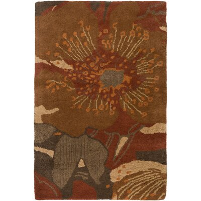 Millwood Dark Brown Area Rug Rug Size: 2 x 3