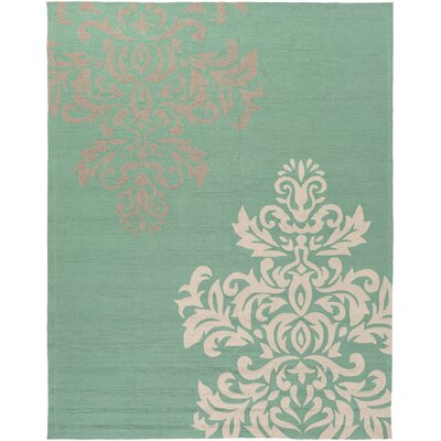 Schmitt Teal Indoor/Outdoor Rug Rug Size: 5 x 8