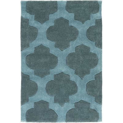 Windsor Teal Rug Rug Size: Rectangle 36 x 56