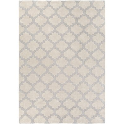 Windsor Beige/Gray Geometric Area Rug Rug Size: Rectangle 9 x 13