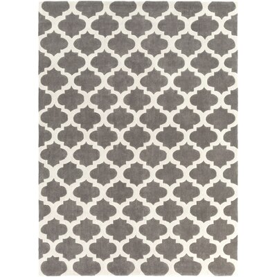 Windsor Beige/Gray Geometric Area Rug Rug Size: Round 8