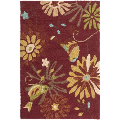 Schmitt Burnt Sienna Outdoor Rug Rug Size: Rectangle 2 x 3