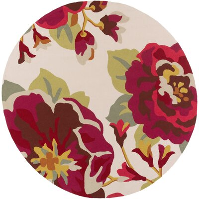 Schmitt Red Indoor/Outdoor Area Rug Rug Size: Round 8