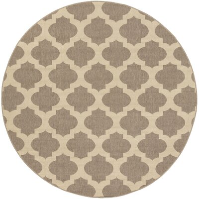 Rubin Brown Indoor/Outdoor Area Rug Rug Size: Round 73