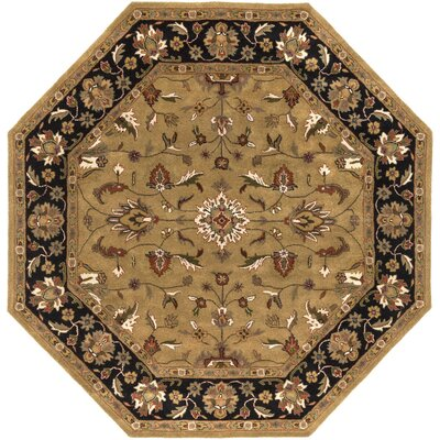 Stanford Gold/Charcoal Rug Rug Size: Octagon 8