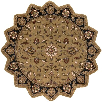 Stanford Gold/Charcoal Rug Rug Size: Novelty 8 x 8