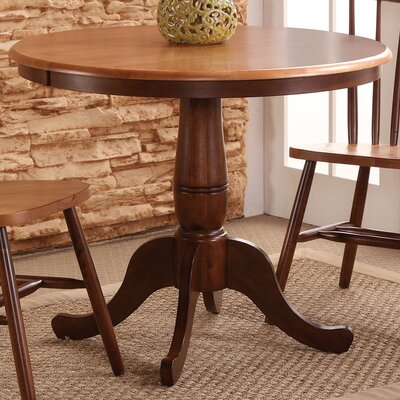 Doylan Dining Table Size: 36, Color: Rich Mocha