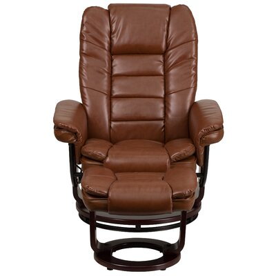 Albury Manual Swivel Recliner With Ottoman