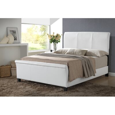 Newbury Upholstered Sleigh Bed Size: Twin, Color: White