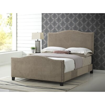 Farragut Upholstered Panel Bed Size: Full, Upholstery: Beige