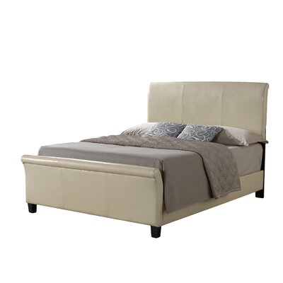 Newbury Upholstered Sleigh Bed Size: Full, Color: Beige