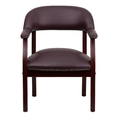Walker Leather Guest Chair Casters: No Casters