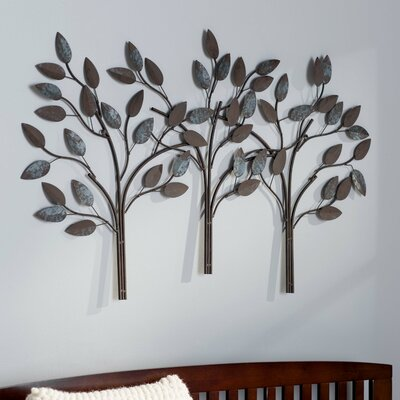 Desford Leaf Wall Décor Finish: Soothing Royal Touch