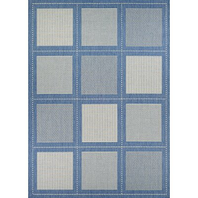 Westlund Blue Indoor/Outdoor Area Rug Rug Size: Rectangle 53 x 76