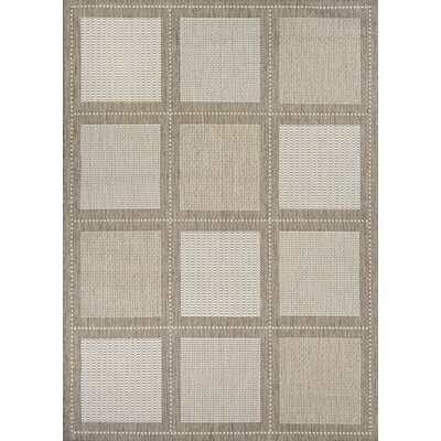 Westlund Beige Indoor/Outdoor Area Rug Rug Size: 53 x 76