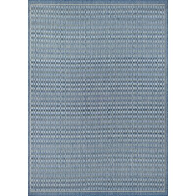 Westlund Blue Indoor/Outdoor Area Rug Rug Size: 39 x 55