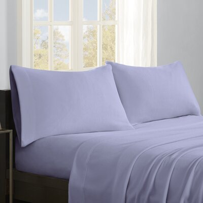 Butlerville 4 Piece Micro Fleece Sheet Set Size: Cal King, Color: Lavender