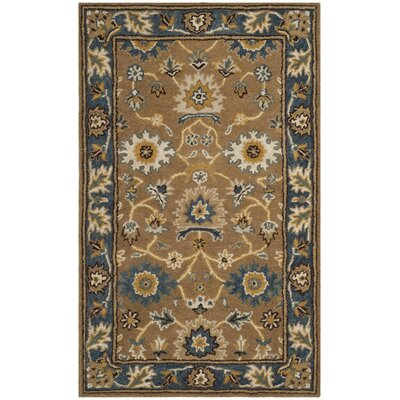Cranmore Hand-Tufted Brown/Blue Area Rug Rug Size: 3 x 5