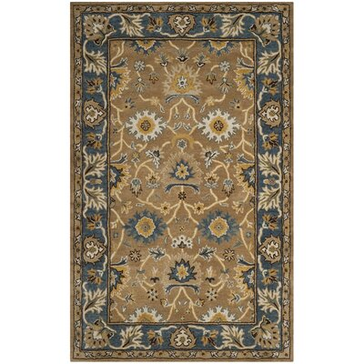 Cranmore Hand-Tufted Brown/Blue Area Rug Rug Size: Rectangle 4 x 6