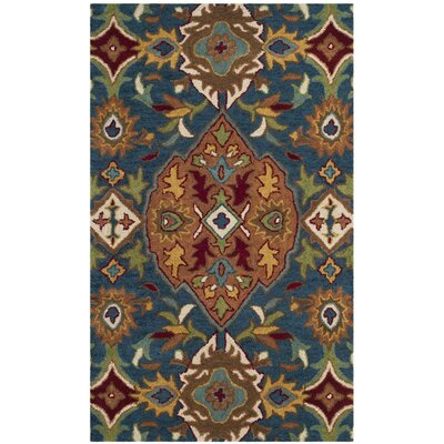 Cranmore Hand-Tufted Brown/Blue Area Rug Rug Size: 2 x 3