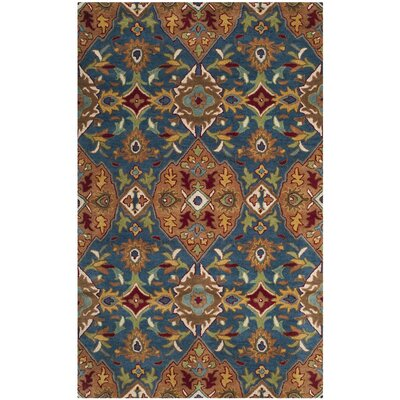 Cranmore Hand-Tufted Brown/Blue Area Rug Rug Size: 8 x 10