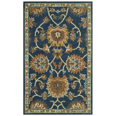 Cranmore Hand-Tufted Brown/Blue Area Rug Rug Size: 5 x 8