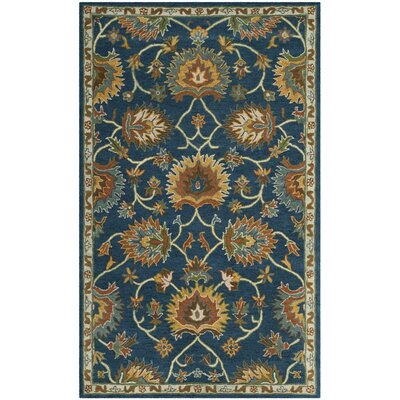 Cranmore Hand-Tufted Brown/Blue Area Rug Rug Size: 4 x 6