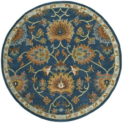 Cranmore Hand-Tufted Brown/Blue Area Rug Rug Size: Rectangle 8 x 10