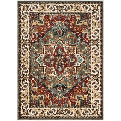 Lowe Gray/Beige Area Rug Rug Size: Rectangle 9 x 12