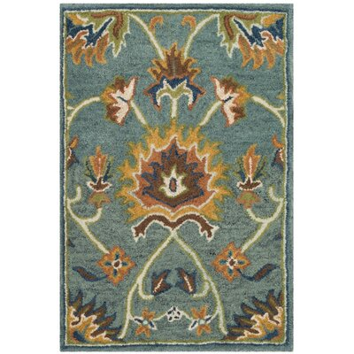 Cranmore Hand-Tufted Light Blue/Yellow Area Rug Rug Size: 3' x 5'